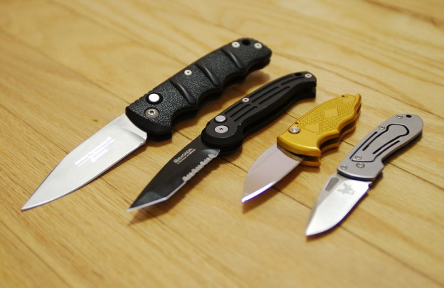a selection of knives